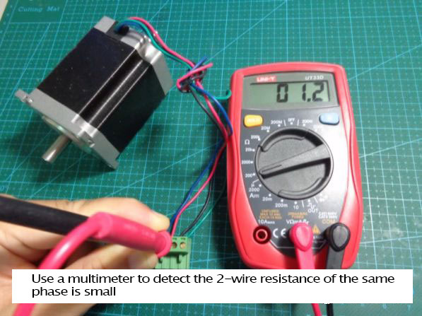 SMC4-4-16a16b use multimeter to detect the 2 wire resistance of the same phase is small