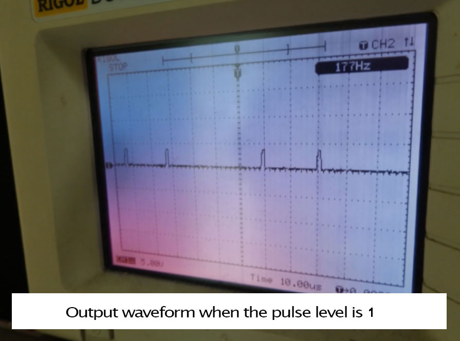 SMC4-4-16a16b outpt waveform when the pulse level is 1