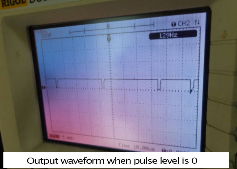 SMC4-4-16a16b output waveform when pulse level is 0